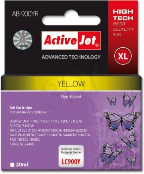 CARTUCHO COMP ACTIVEJET BROTHER LC900Y AMARILLO