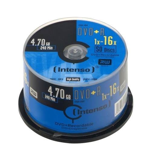 CONSUMIBLE INTENSO DVD+R 4.7GB 50PCS 16X TARRINA