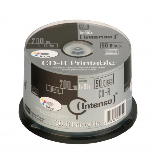 CONSUMIBLE INTENSO CD-R 700MB 50PCS 52X TARRINA