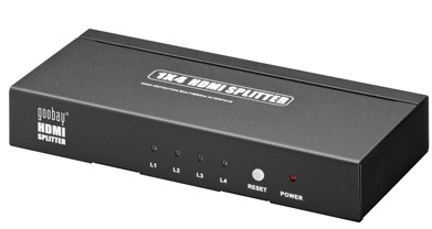 ADAPTADOR VIDEO HDMI SPLITTER HDMI X4 GOOBAY