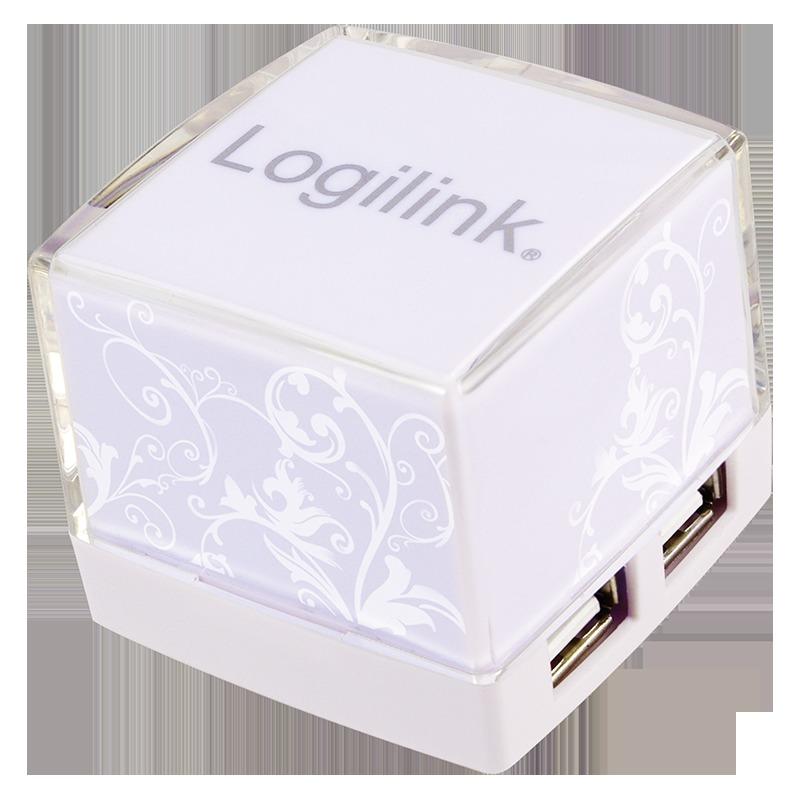 HUB 4 PUERTOS USB 2.0 LOGILINK UA0117 ILUMINADO