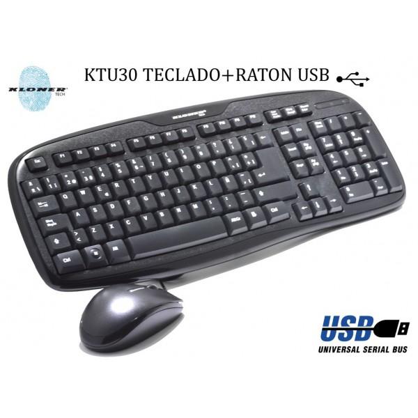TECLADO+RATON KL-TECH KTU30 MULTIMEDIA NEGRO