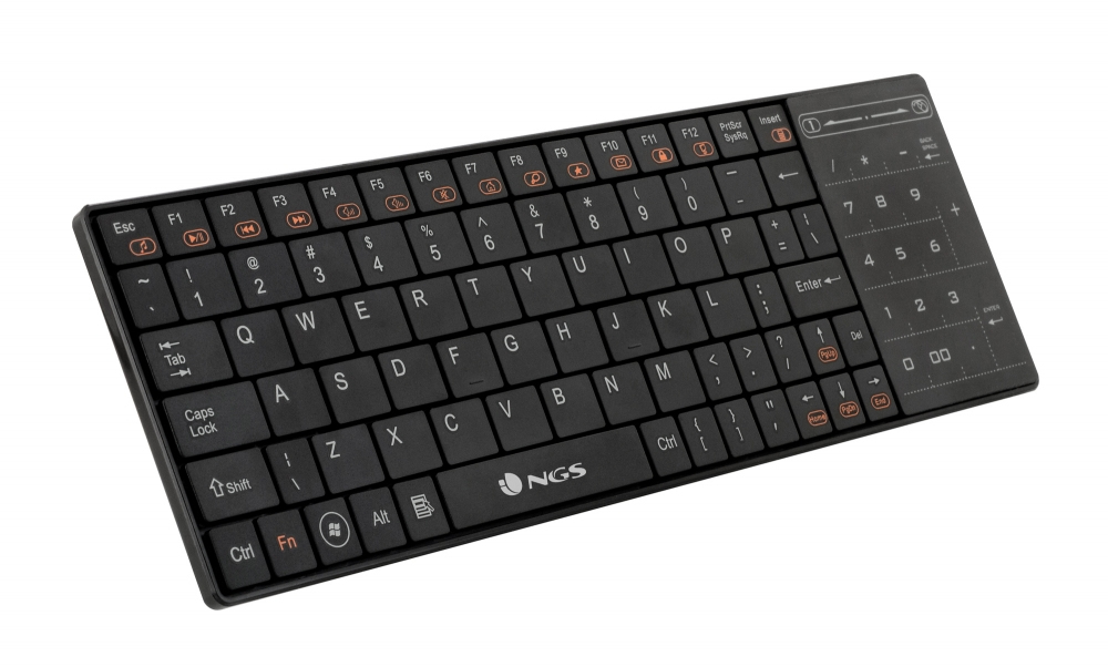 TECLADO NGS TVFIGHTER WIRELESS SMART TV NEGRO
