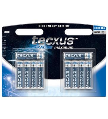 tecxus Alkaline Maximum batería - 10 x tipo AAA - Alcalino