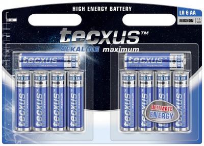 tecxus Alkaline Maximum batería - 10 x tipo AA - Alcalino