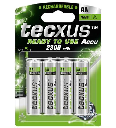 PILAS RECARGABLES TECXUS AA 2300mAH (PACK 4)