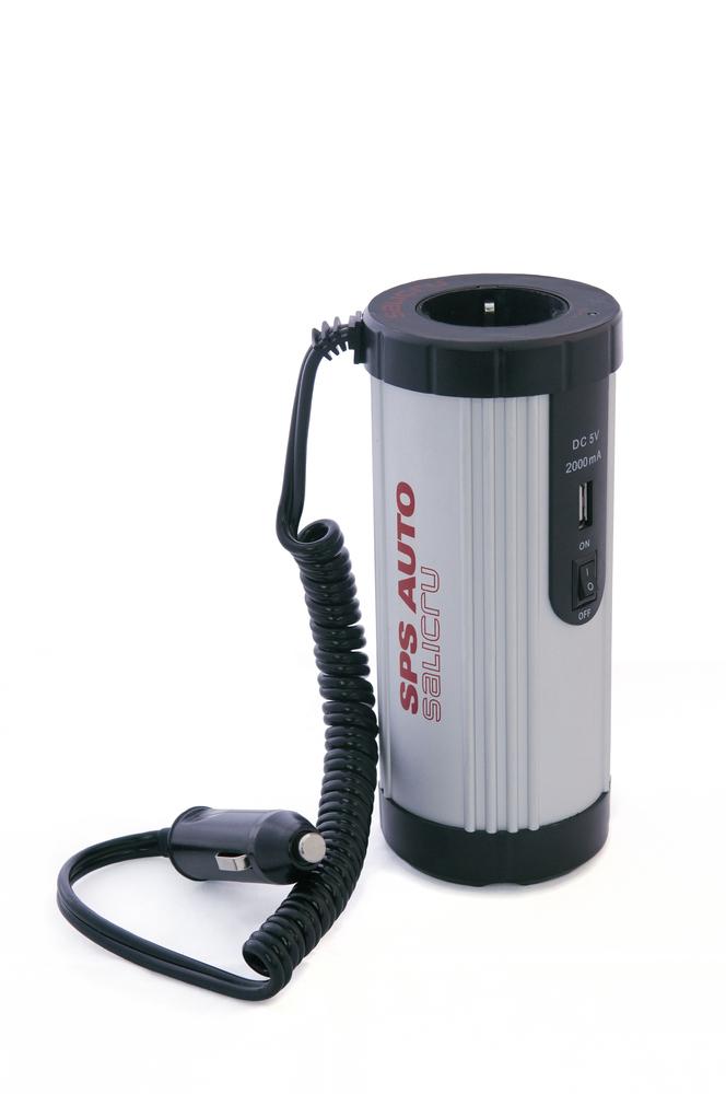 INVERSOR COCHE SALICRU 12V A 230V 150W + USB 5V 2A