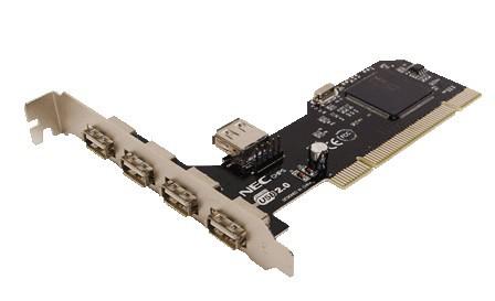 CONTROLADORA PCI 4+1XUSB2.0 LOGILINK PC0041