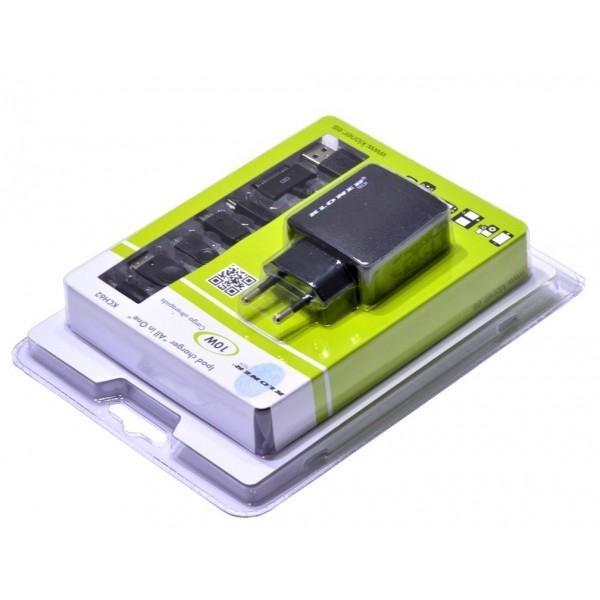 CARGADOR USB CASA TODO EN UNO (IPAD) 10W KL-TECH