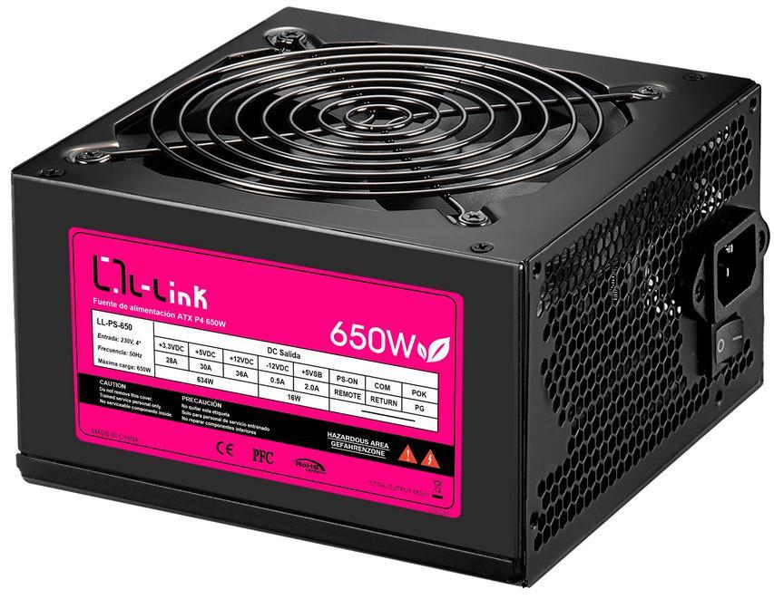 FUENTE ATX 650W L-LINK LL-PS-650