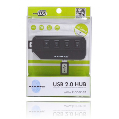 HUB 4 PUERTOS USB 2.0 KL-TECH INTERRUPTOR