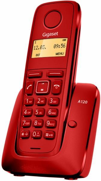 TELEF. INALAMBRICO DECT DIGITAL GIGASET A120 ROJO