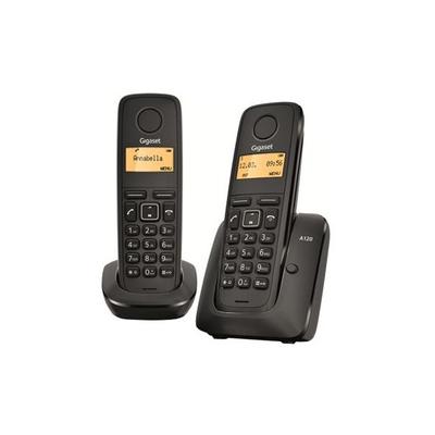 Gigaset A120 Duo - teléfono inalámbrico con ID de llamadas + auricular adicional