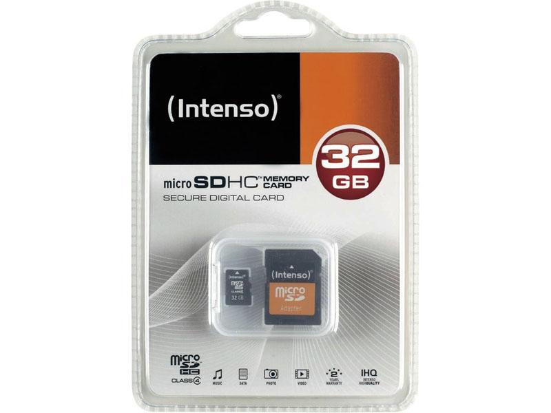 MEM MICRO SD 32GB INTENSO CL4 + ADAPT SD