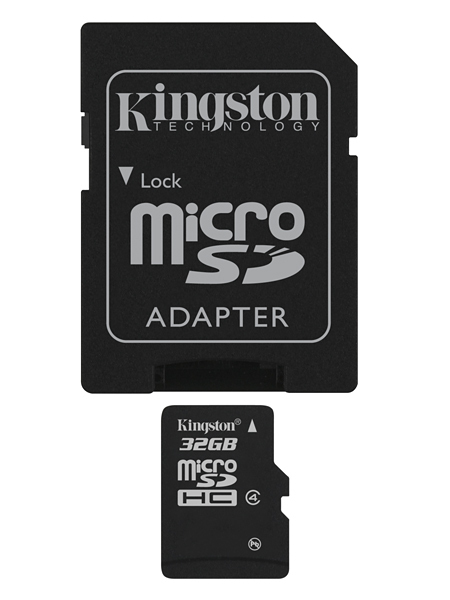 MEM MICRO SD 32GB KINGSTON CL4 + ADAPT SD