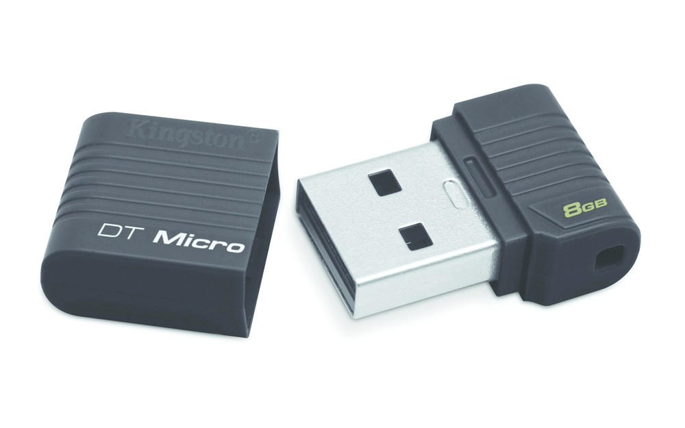 PENDRIVE 8GB USB2.0 KINGSTON DT MICRO NEGRO