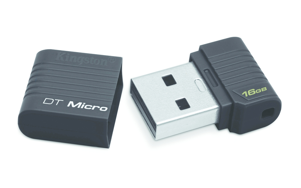 PENDRIVE 16GB USB2.0 KINGSTON DT MICRO NEGRO