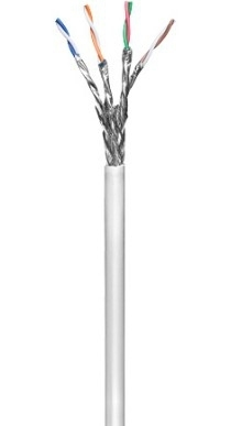 goobay cable al por mayor - 100 m - gris