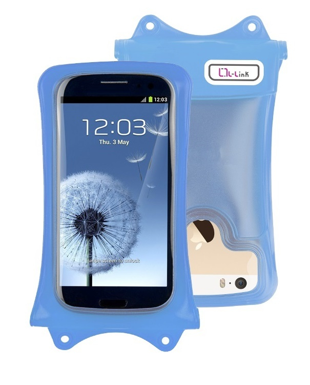 FUNDA MOVIL L-LINK LL-AM-107  WATERPROOF AZUL