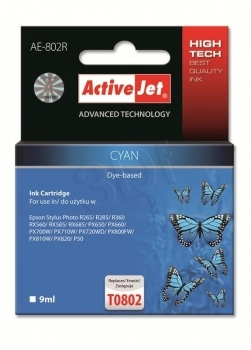 CARTUCHO COMP ACTIVEJET EPSON T0802 CYAN