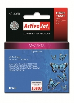CARTUCHO COMP ACTIVEJET EPSON T0803 MAGENTA