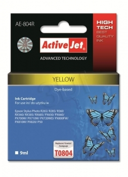 CARTUCHO COMP ACTIVEJET EPSON TO804 AMARILLO
