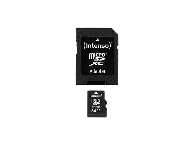 MEM MICRO SD 64GB INTENSO CL10 + ADAPT SD