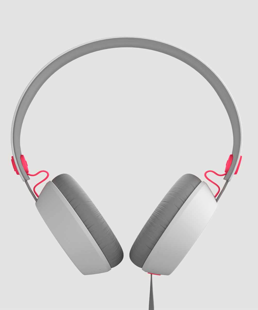AURICULARES COLOUD BOOM GRIS/ROSA