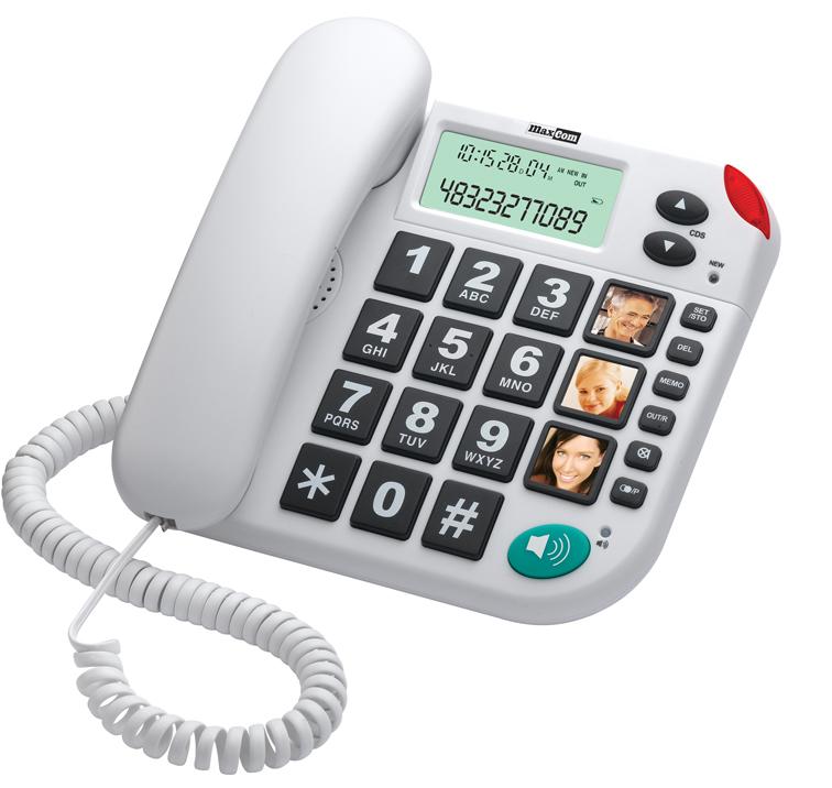 TELEFONO FIJO MAXCOM KXT480BI BLANCO