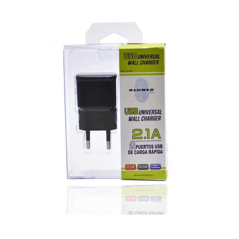 CARGADOR USB X2 CASA KL-TECH KUSB2