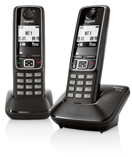 TELEF. INALAMBRICO DECT DIGITAL GIGASET A420 DUO N PGK02
