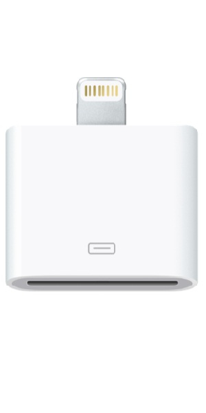 ADAPTADOR APPLE LIGHTNING A 30 CLAVIJAS (30 PIN)