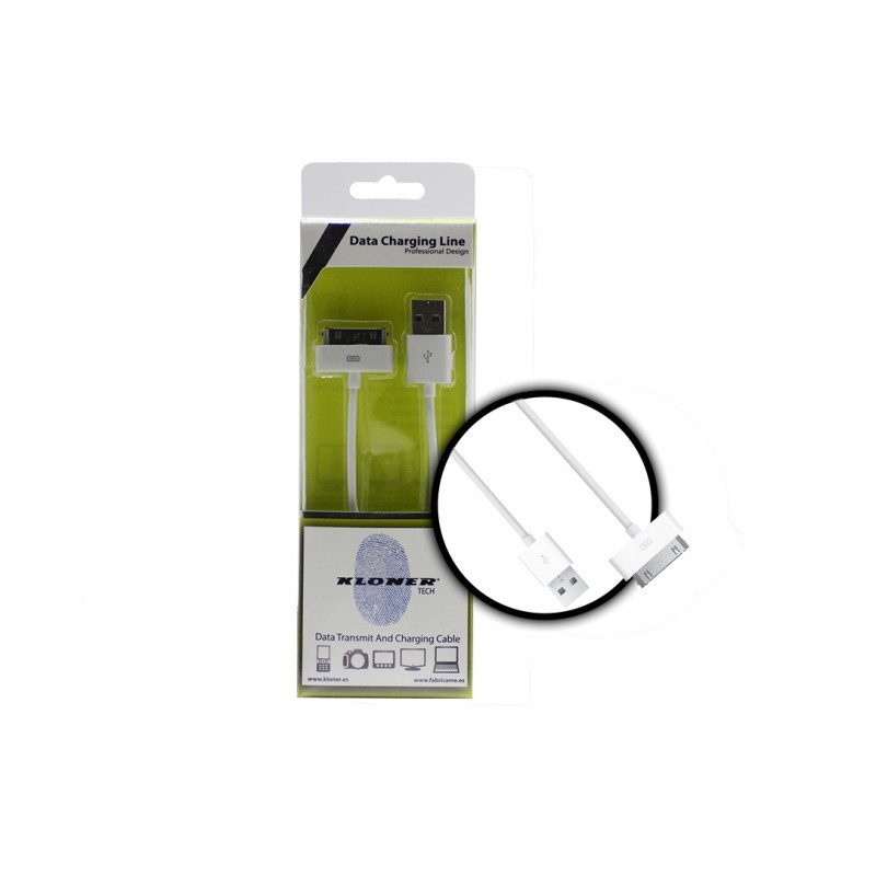 CABLE USB DATOS APPLE KL-TECH 1M IPHONE 4