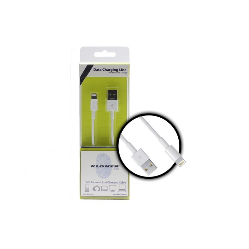CABLE USB DATOS APPLE KL-TECH 1M IPHONE 5/6