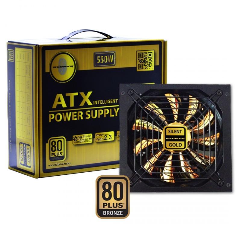FUENTE ATX 550W GOLD KL-TECH VENT.14CM 8 SATA 3IDE