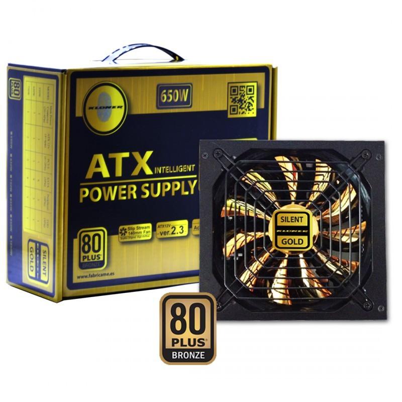 FUENTE ATX 650W GOLD KL-TECH VENT.14CM 8 SATA 3IDE