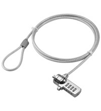CABLE SEGURIDAD PORTATIL GOOBAY PC LOCK 1.5M