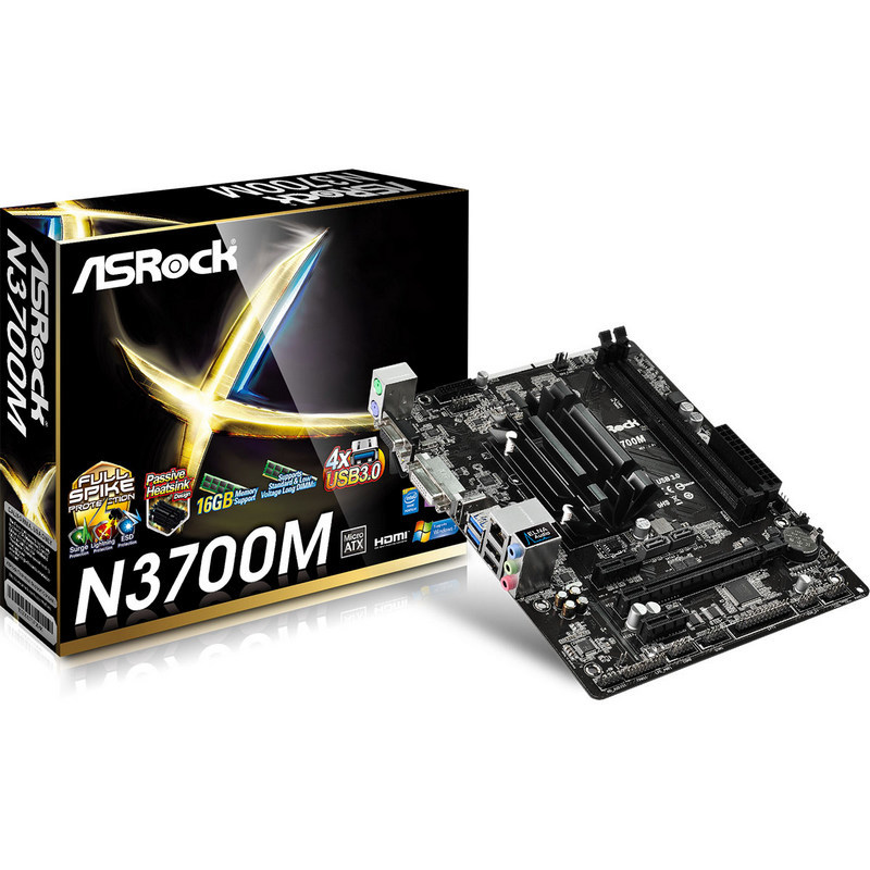PB ASROCK N3700M CPU INTEL QUAD CORE