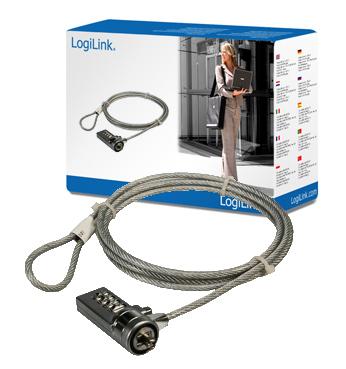 LogiLink bloqueo de cable de seguridad