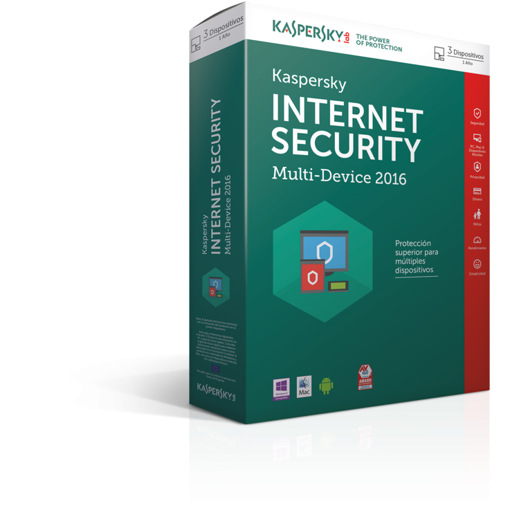 SOFTW KASPERSKY 2016 INTERNET SECURITY MULTI 3U