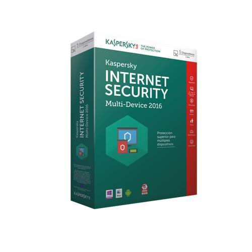 SOFTW KASPERSKY 2016 INTERNET SECURITY MULTI 5U