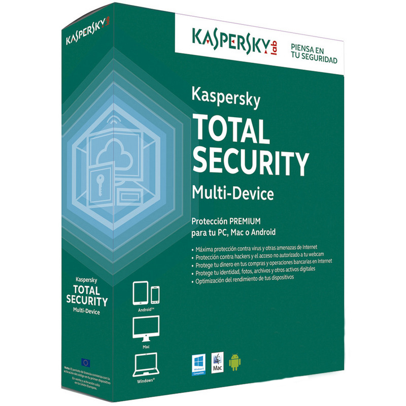 SOFTW KASPERSKY 2016 TOTAL SECURITY 3U