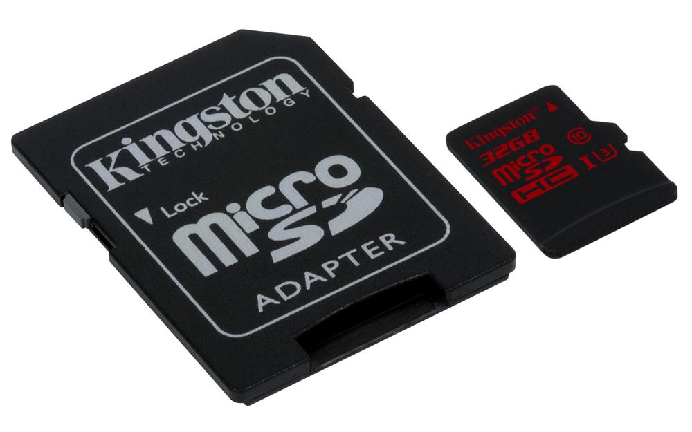 MEM MICRO SD 32GB KINGSTON CL10 UHS-I(U3)+ADAPT.SD