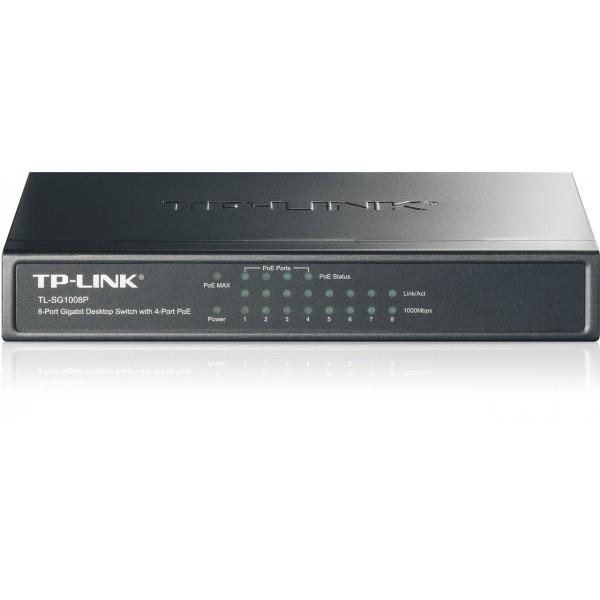HUB SWITCH 8 PTOS 10/100/1000 TP-LINK TL-SG1008P