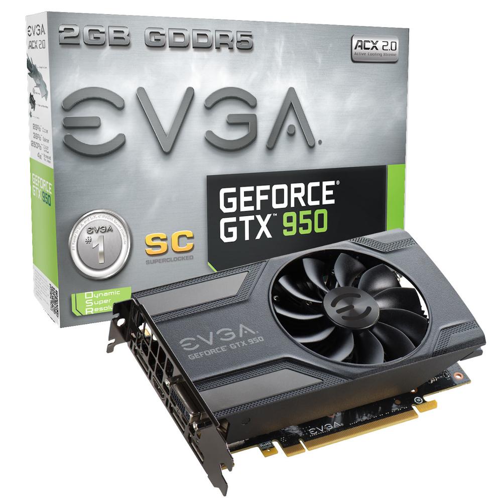 VGA EVGA GTX 950 SC GAMING 2GB GDDR5