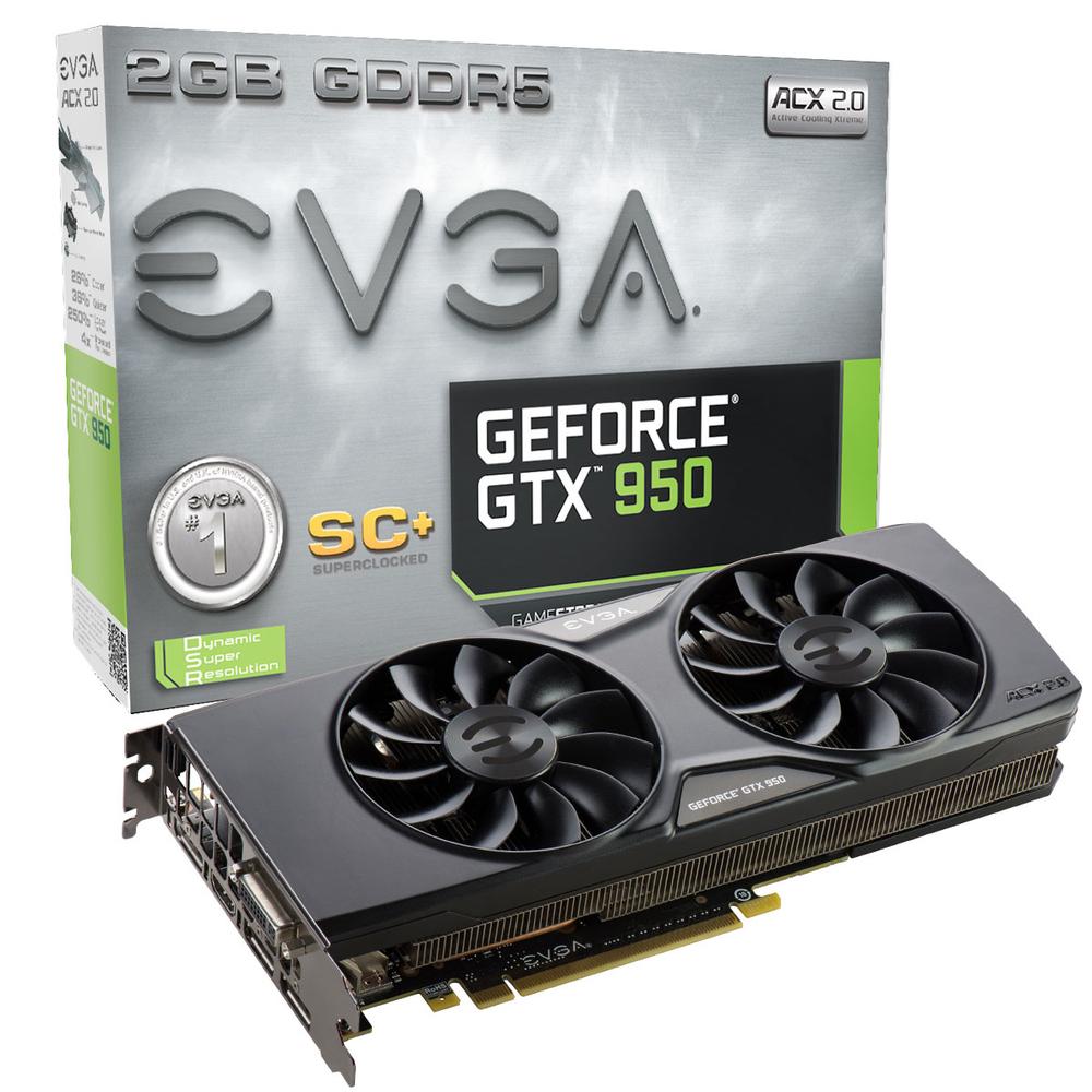 VGA EVGA GTX 950 SC+ GAMING ACX 2.0 2GB GDDR5