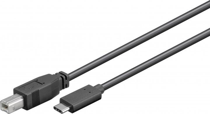 CABLE USB(B)2 .0 A USB(C) 3.1 GOOBAY 1M