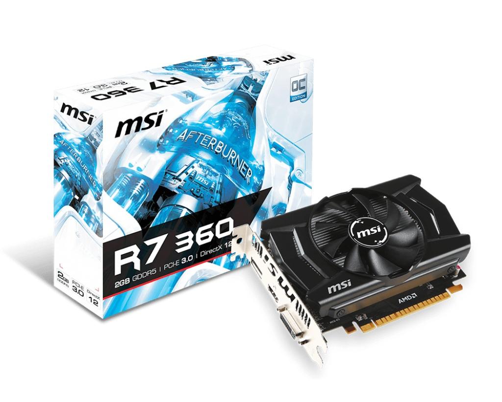 VGA MSI R7 360 2GD5 OCV1 2GB GDDR5