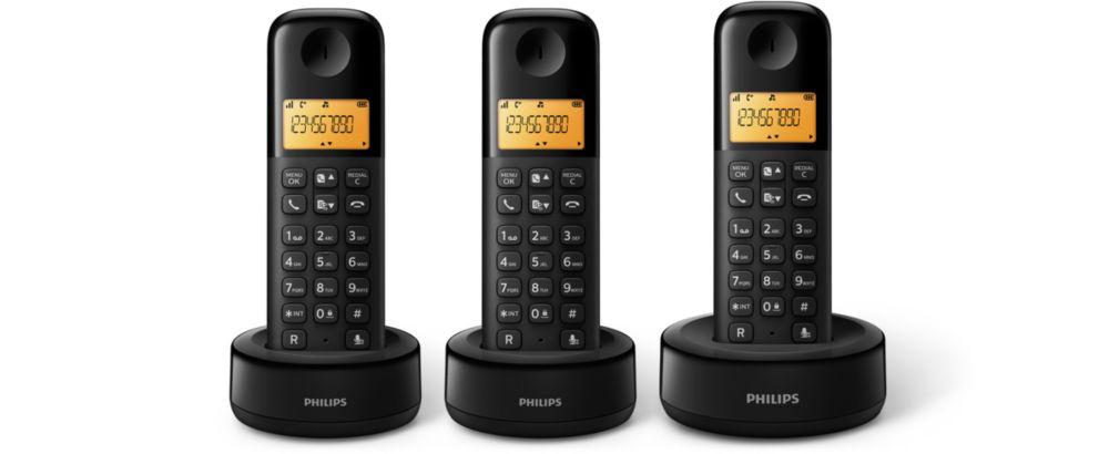 TELEF. INALAMBRICO DECT DIGITAL PHILIPS D1303B/23