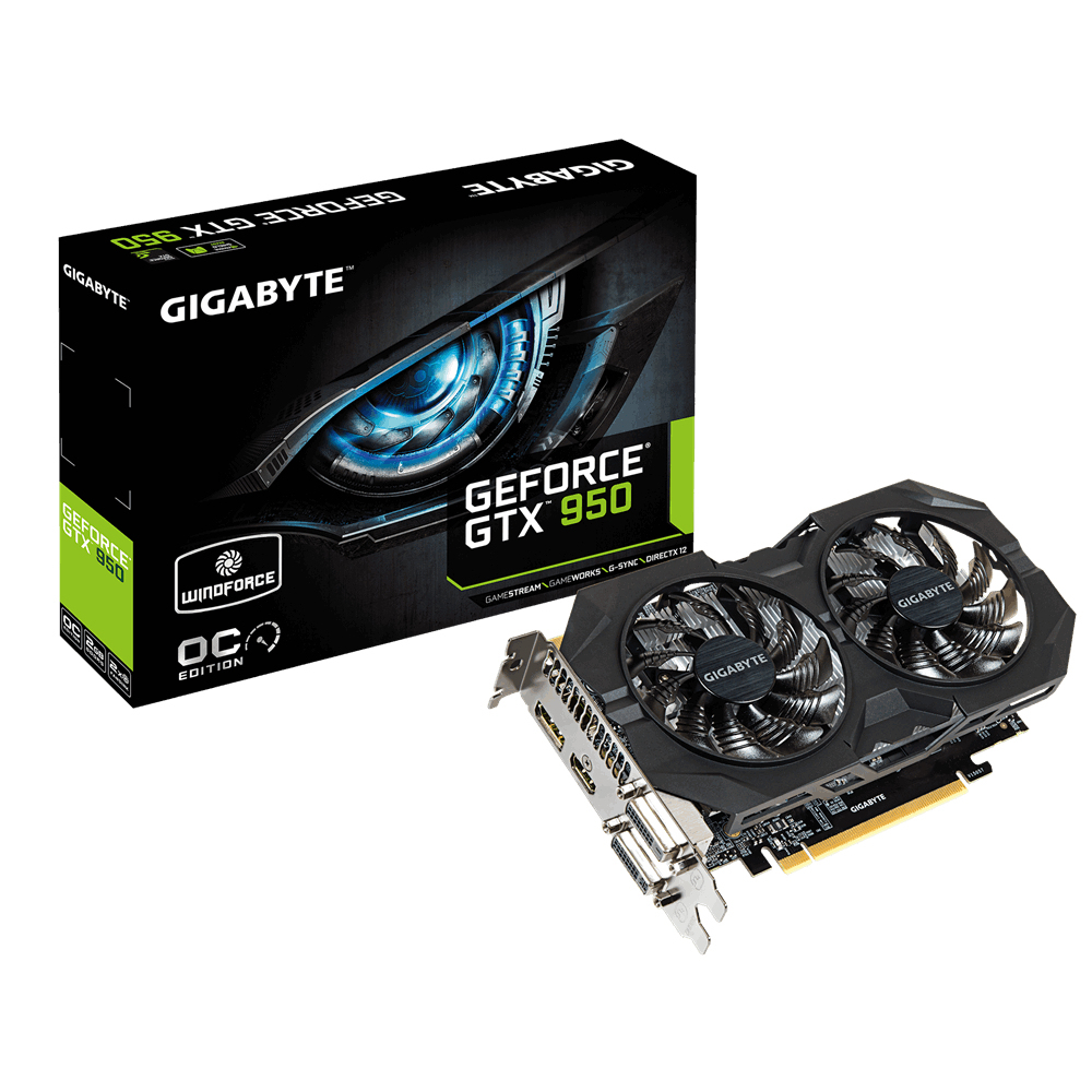 VGA GIGABYTE GTX 950 WINDFORCE OC 2GB GDDR5